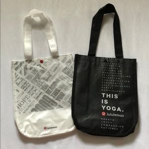 Set of Lululemon Special Edition Reusable Tote Bag